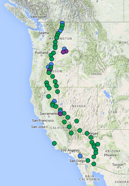 RECON involves over 54 telescope sites run volunteers from over 60 communities.