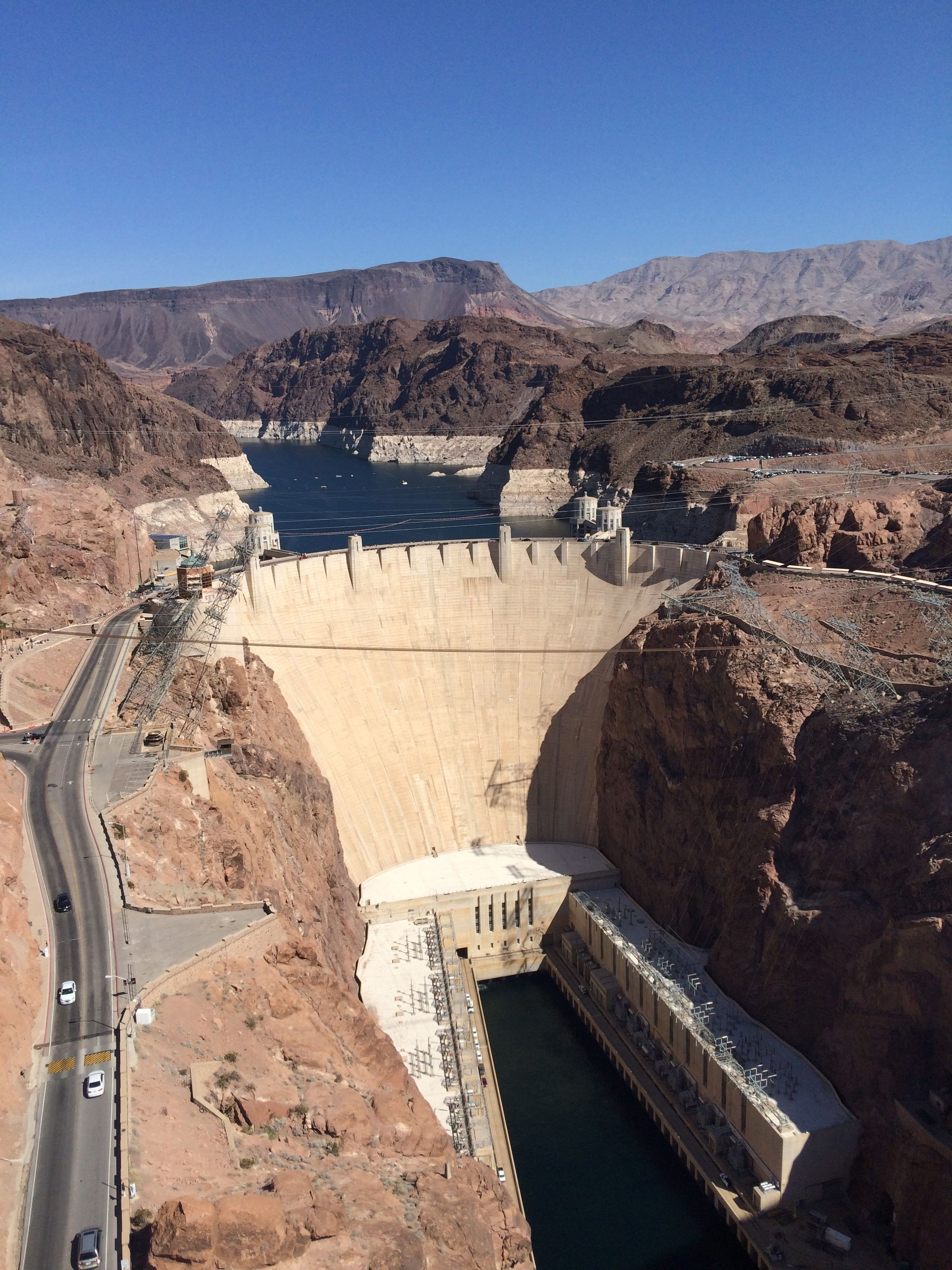 Hoover Dam from the Mike O'Callaghan–Pat Tillman Memorial Bridge