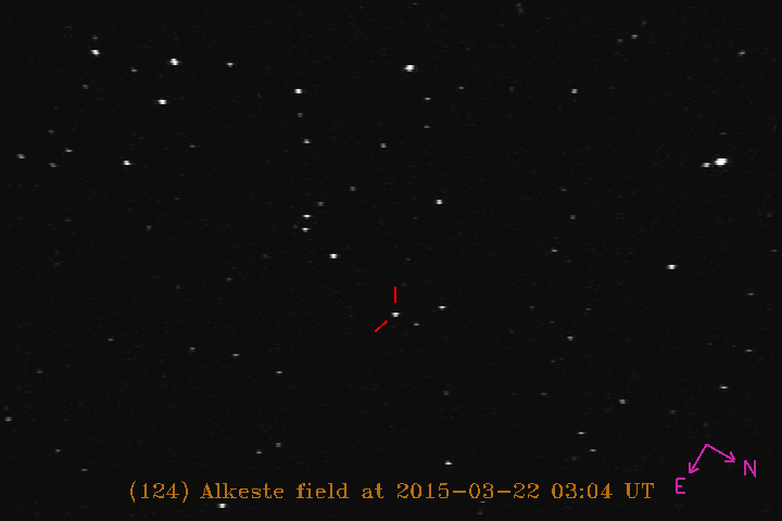 Image showing starfield for (124) Alkeste provided by Marc Buie.