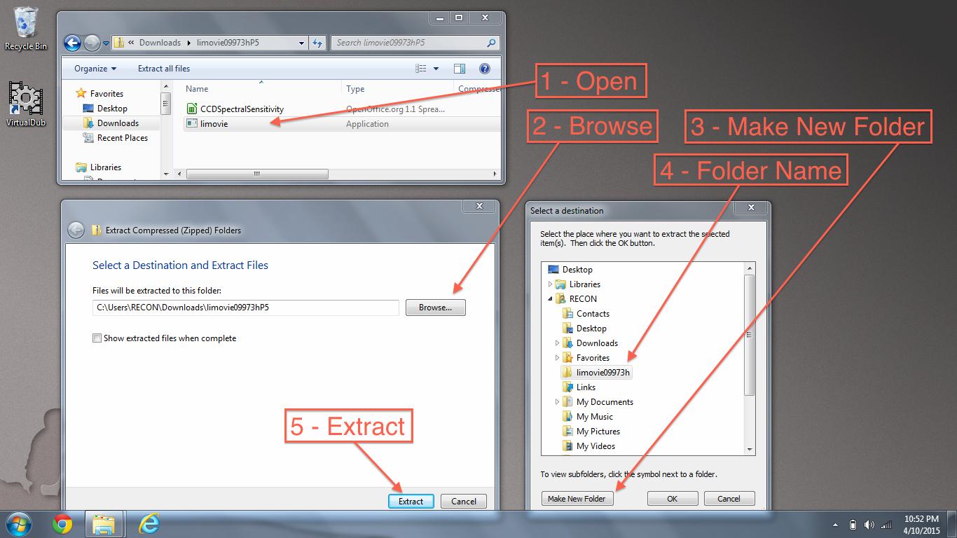 Extract Limovie Zip File