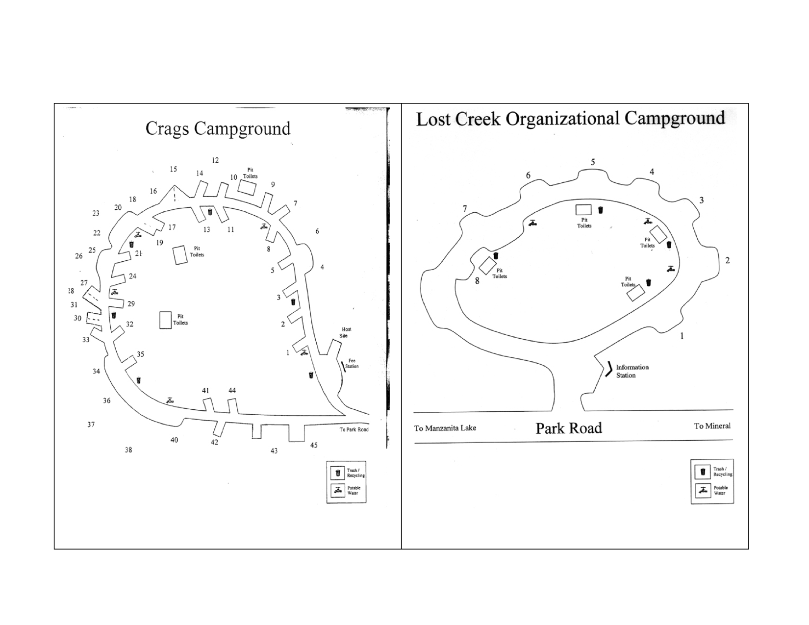 Crags & Lost Creek Campground maps