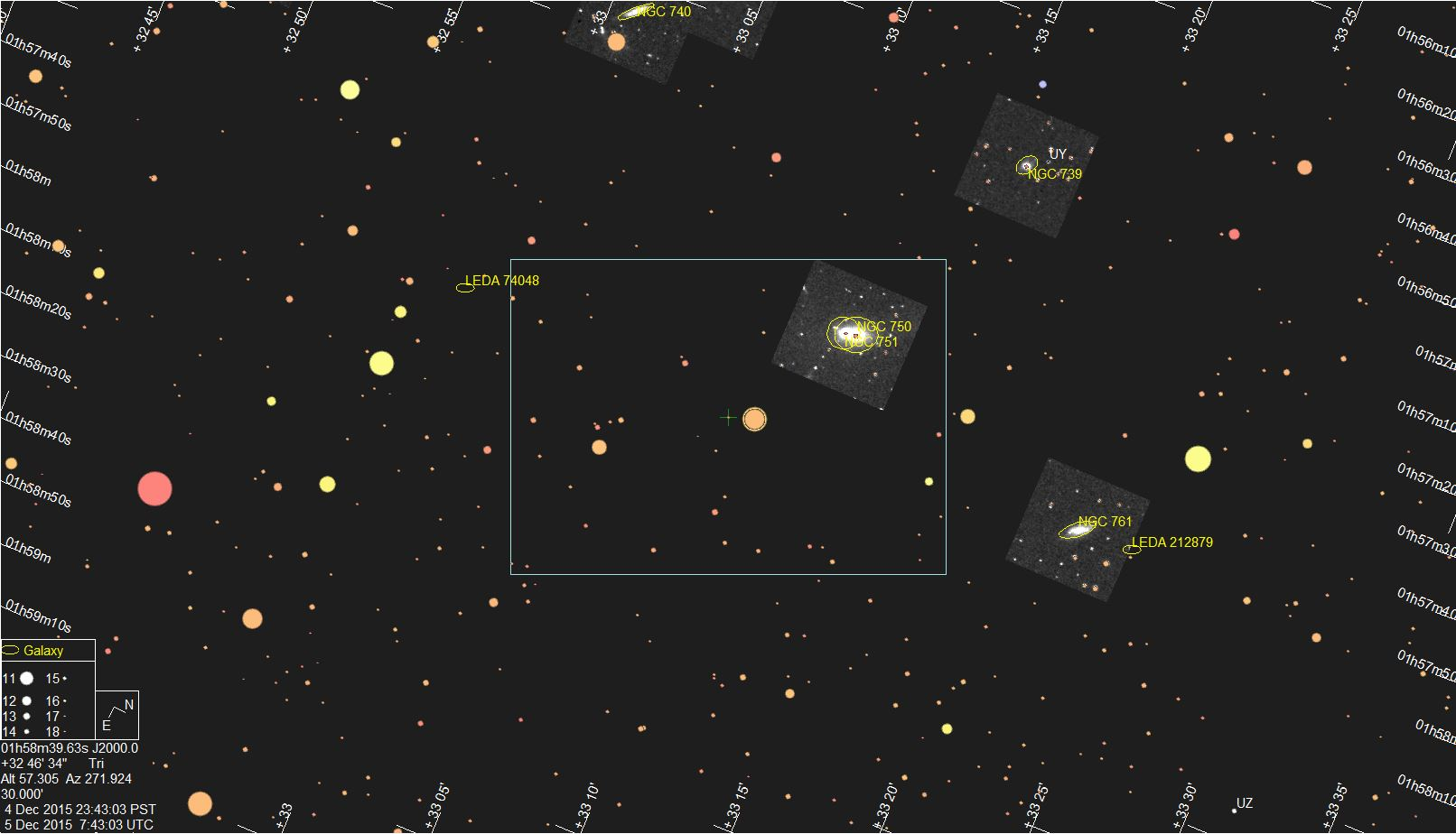 Star chart for Bienor event provided by Jerry Bardecker