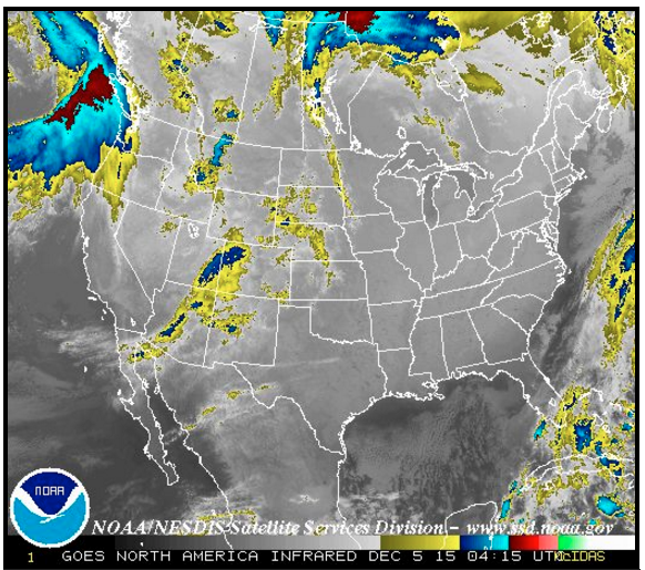 IR satellite image two hours out