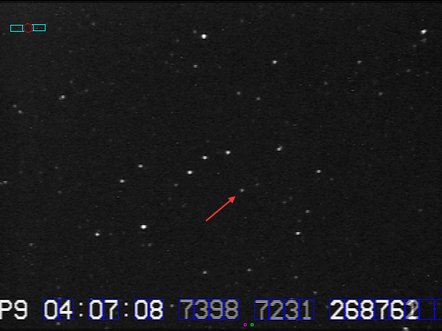 Star field for 08JO41 provided by Marc Buie at 128x. Field is close to orientation at time of event.