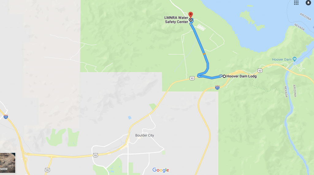 2019 Team Meeting Boulder City Nevada Recon - Hoover-dam-on-us-map